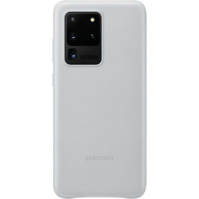 image produit Samsung Leather Cover Galaxy S20 Ultra - Cuir gris clair - livrable en France