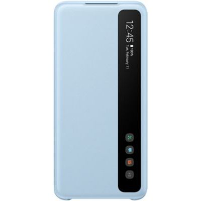 image Samsung Clear View Cover Galaxy S20 - Bleu