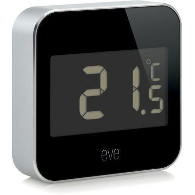 """image Smart Home Pack """"Entretien de l'air intérieur"""": Eve Degree (station météo) et Eve Energy (capteur de consommation et interrupteur sans fil); Apple HomeKit"""