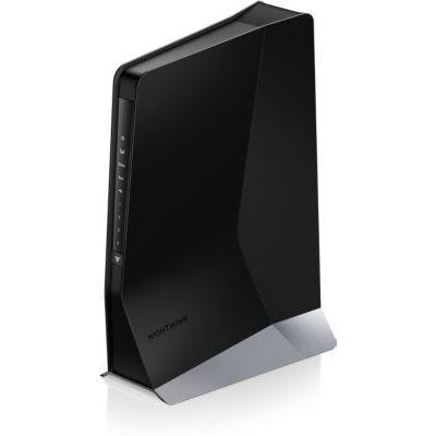 image NETGEAR EAX80 Répéteur Mesh WiFi 6 Nighthawk – Ajoutez jusqu'à 175m2, connectez jusqu'à 30 appareils avec le WiFi Dual Band AX6000, amplifiez votre signal, bénéficiez du Smart Roaming