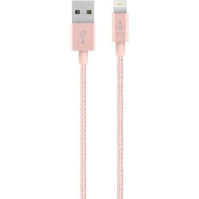 image Belkin Câble Lightning vers USB mixit metallic (Câble de Recharge Certifié Apple MFi pour iPhone et iPad, 1,2 m, or Rose)