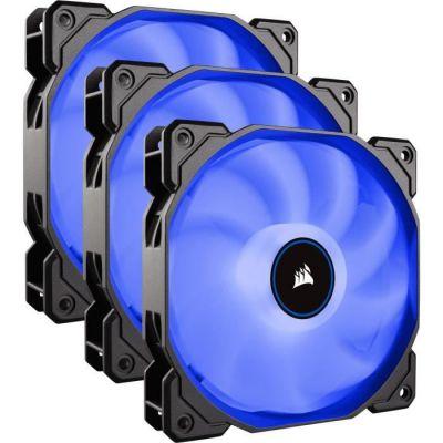 image Corsair AF120, Air Series, 120mm LED Ventilateur Silencieux - Bleu (Pack Triple)