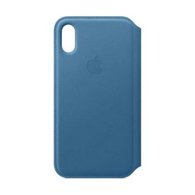 image Apple Étui Folio en Cuir (pour iPhoneXS)- Bleu Cape Cod