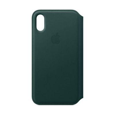image Apple Étui Folio en Cuir (pour iPhoneXS)- Vert Forêt