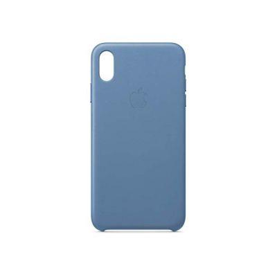 image Apple Coque en cuir (pour iPhoneXS Max) - Bleuet