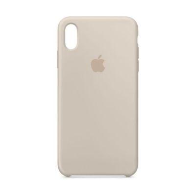 image iPhone XS Max Coque en silicone - Gris sable