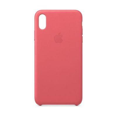 image Apple Coque en Cuir (pour iPhoneXSMax) - Rose Pivoine