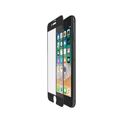 image Belkin - ScreenForce - Film de protection d'écran en verre tempé avec couverture bord à bord (edge to edge) pour iPhone 7+ et iPhone 8+, Noir