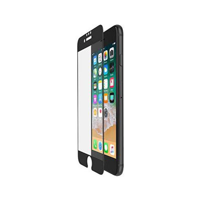 image Belkin - ScreenForce - Film de protection d'écran en verre tempé avec couverture bord à bord (edge to edge) pour iPhone 6, 6s, 7, 8, Noir
