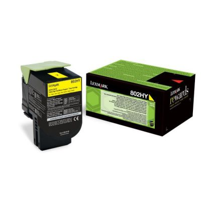 image Lexmark 80C2HY0 Cartouche de Toner Laser pour Imprimante CX410/510 Jaune