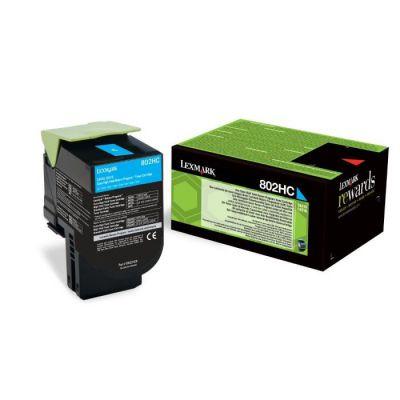 image Lexmark 80C2HC0 Cartouche de Toner Laser pour Imprimante CX410/510 Cyan