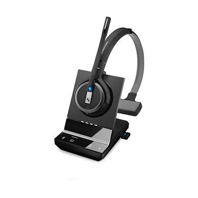 image Sennheiser Micro Casque Haut de Gamme sans Fil monaural DECT BT Version Pro pour PC et Mobile, certifié UC
