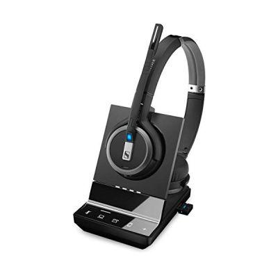 image Sennheiser SDW 5066 Binaural Bandeau Noir - Casques Audio (Téléphone DECT, 5-45 °C, -20-70 °C, Binaural, Bandeau, Noir)