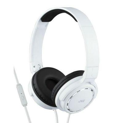 image JVC HA-SR525 Casque Stéréo – on-ear avec télécommande et microphone blanc