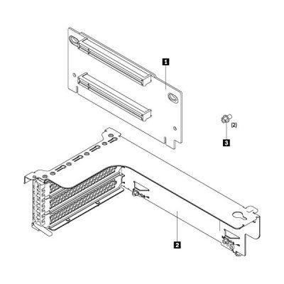 image LENOVO Riser 1 Kit - Carte fille - pour ThinkAgile VX3520-G Appliance 7Y94, ThinkSystem SR550, SR590, SR650