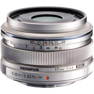 image Olympus M.Zuiko Objectif Digital 17mm F1.8, focale fixe lumineuse, compatible tout appareil Micro 4/3 (modèles Olympus OM-D & PEN, Panasonic G-series), Argent