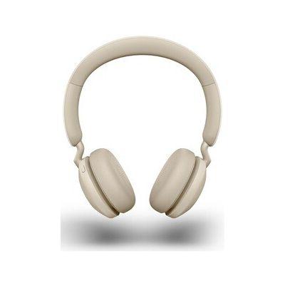 image Jabra Elite 45h Casque Sans Fil Supra-Auriculaire – Casque Compact Pliable avec une Autonomie de 50 Heures – Technologie d'Appel à 2 Microphones – Beige Doré