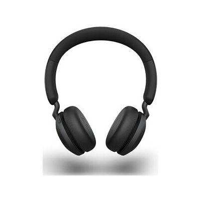 image Jabra Elite 45h Casque Sans Fil Supra-Auriculaire – Casque Compact Pliable avec une Autonomie de 50 Heures – Technologie d'Appel à 2 Microphones – Noir