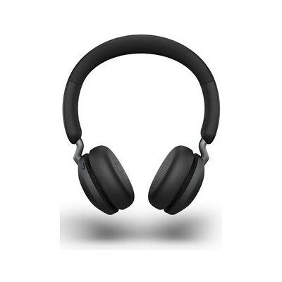 image Jabra Elite 45h Casque Sans Fil Supra-Auriculaire – Casque Compact Pliable avec une Autonomie de 50 Heures – Technologie d'Appel à 2 Microphones – Noir Titane