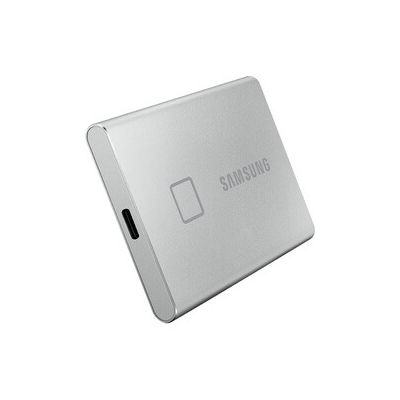 image SAMSUNG T7 Touch 500 Go USB 3.2 SSD externe argent - MU-PC500S/WW