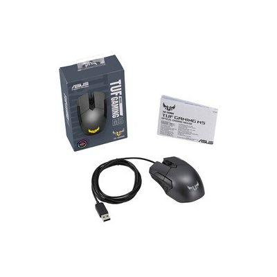 image ASUS TUF Gaming M5 Souris USB Optique 6200 DPI Droitier Noir - Souris (Droitier, Optique, USB, 6200 DPI, 110 g, Noir)