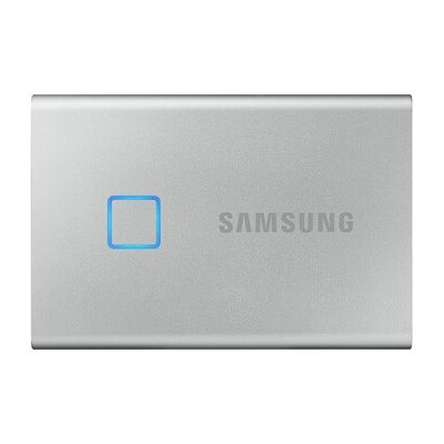 image SAMSUNG T7 Touch 2 To USB 3.2 SSD externe argent - MU-PC2T0S/WW
