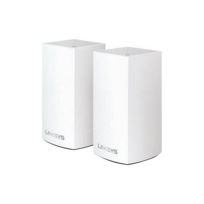 image Linksys Système Wi-Fi Mesh Multiroom Velop VLP0101 (Wi-Fi AC1200 / extension Wi-Fi pour encore plus de portée, contrôle parental, pack de 1, portée de signal jusqu'à 140 m2, blanc)