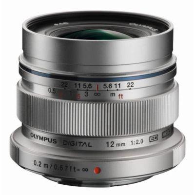 image Olympus M.Zuiko Objectif Digital ED 12mm F2.0, focale fixe lumineuse, compatible tout appareil Micro 4/3 (modèles Olympus OM-D & PEN, Panasonic G-series), Argent