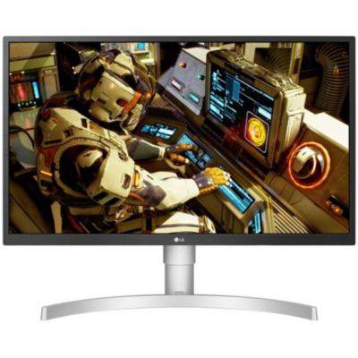 image LG UltraFine 27UL550-W, Moniteur IPS UHD 4K 27'' (3840x2160, 5ms, sRGB 98%, HDMI, Display Port, HDR, FreeSync, Ajustable Hauteur, Pivotable)