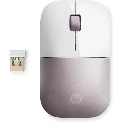 image HP Z3700 - Souris Sans Fil Blanc/Rose (USB, 1200 DPI, Ambidextre)