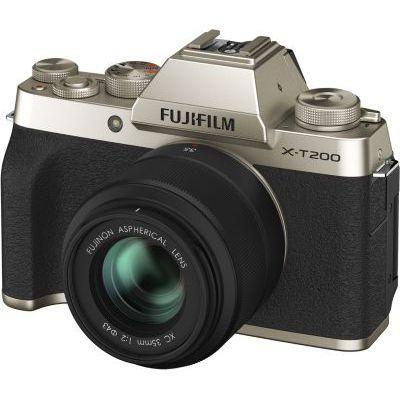 image Fujifilm Kit X-T200 Appareil photo Or + XC15-45 mm