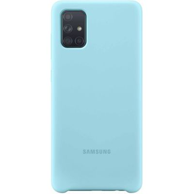 image Samsung Coque Silicone G A71 Bleu
