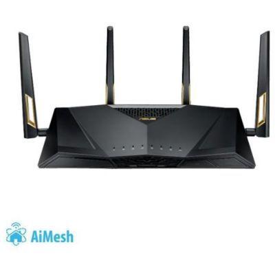 image ASUS RT-AX88U Routeur Gaming Wi-Fi 6 Ai Mesh / AX 6000 Mbps Double Bande OFDMA et MU-MIMO avec Aura Sync, Sécurité AiProtection Pro à Vie par TrendMicro