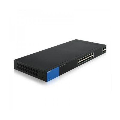 image Linksys LGS318-EU Commutateur Gigabit intelligent administrable à 16 ports avec 2 ports SFP pour professionnels