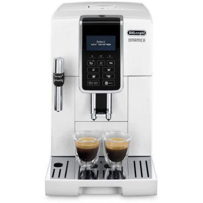 image DeLonghi Dinamica ECAM 350.35.w autonome entièrement automatique Machine Espresso 1.8L Blanc–Cafetière (autonome, Machine à Espresso, blanc, tasse, LCD, 1,8l)