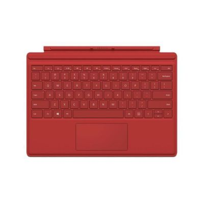 image Microsoft Clavier Type Cover AZERTY pour Surface Pro 3, Surface Pro 4 et Surface Pro (2017) – Rouge