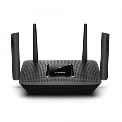 image Linksys Routeur Wi-Fi Mesh triple bande MR8300 AC2200 (fonctionne avec Velop, système Wi-Fi Multiroom, 4 ports Gigabit Ethernet, contrôle parental via appli Linksys, fonctionne avec Alexa)