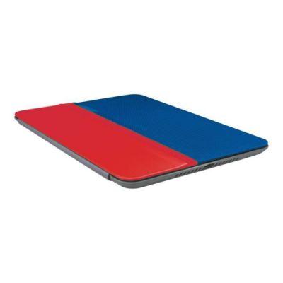 image Logitech 939-001159 Etui de protection avec Support multi-angle pour iPad Mini Rouge/Bleu