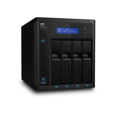 image WD Boitier My Cloud Pro PR4100 Pro Serie 4-Bay Network Attached Storage - NAS - WDBNFA0000NBK-EESN