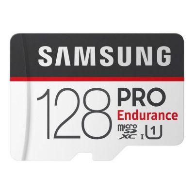 image SAMSUNG Pro Endurance microSD Carte Classe 10 128GB SD Adaptateur, MB-MJ128GA/EU, 128 Go