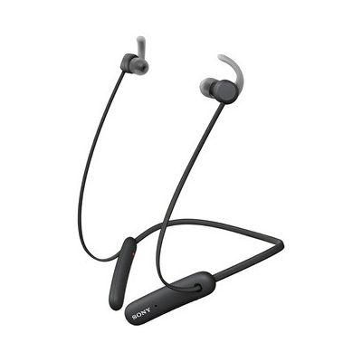 image Sony WI-SP510 Ecouteurs intra-auriculaires sans fil sport, 15 heures d'autonomie, fonction Charge rapide et compatible assistants vocaux, noir