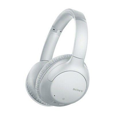 image Sony WH-CH710N Casque sans fil à réduction de bruit avec micro pour appels téléphoniques, 35 heures d'autonomie, fonction Charge rapide, compatible assistants vocaux, Blanc