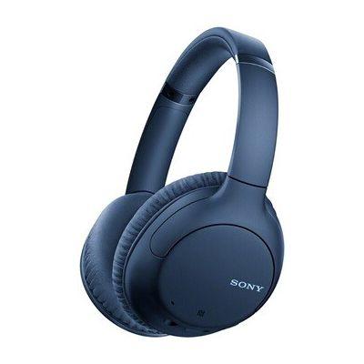 image Sony WH-CH710N Casque sans fil à réduction de bruit, 35 heures d'autonomie, fonction Charge rapide, compatible assistants vocaux, Bleu