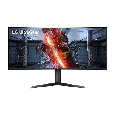 image LG UltraGear 38GL950G-B, Moniteur incurvé Gaming 21:9 Nano IPS QHD+ 38'' (3840x1600, 1ms, 144Hz, Nvidia Gsync, DCI-P3 98%, HDMI, Display Port, USB 3.0, HDR 400, Ajustable Hauteur, Sphere Lightning)