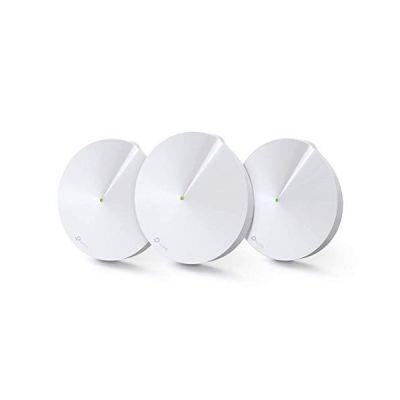 image TP-Link WiFi Mesh AC 2200Mbps Deco M9 Plus(3-pack) Système pour toute la maison, Couverture WiFi de 450㎡, 2 Gigabit Ethernet Ports, Contrôle parental, Compatible avec toutes les Box Fibre