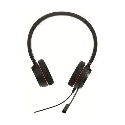 image Jabra Evolve 20 Stereo Headset – Casque Filaire pour VoIP Softphone avec Annulation Passive du Bruit – Câble USB avec Contrôleur – Noir