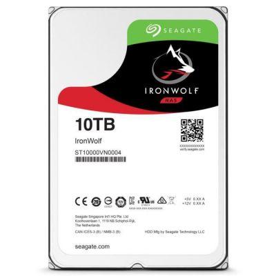 image Seagate IronWolf 10 To, Disque dur interne NAS HDD – CMR 3,5 pouces SATA 6 Gbit/s 7 200 tr/min, 256 Mo de mémoire cache, pour NAS RAID (ST10000VN0004)