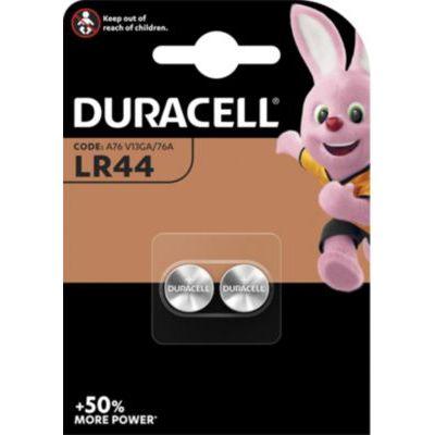 image Duracell LR44 Pile bouton alcaline 1,5V, lot de 2 (76A / A76 / V13GA), pour jouets, calculatrices et appareils de mesure