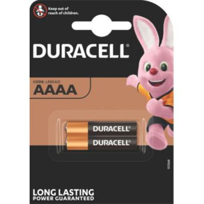 image Duracell AAAA Pile alcaline 1,5V, lot de 2 (LR8D425), pour stylets numériques (Suface Pen), dispositifs médicaux et phares