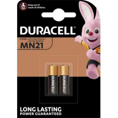 image Duracell MN21 Pile Alcaline 12V, Lot de 2 ( A23 / 23A / V23GA / LRV08 / 8LR932 ), pour Télécommandes, Sonnettes de Porte sans Fil et Systèmes de Sécurité